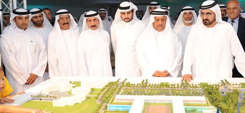 مستشفى الجليلة الذي أمر بإنشائه صاحب السمو الشيخ محمد بن راشد آل مكتوم نائب رئيس الدولة رئيس مجلس الوزراء حاكم دبي